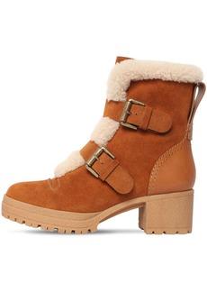 See by Chloé 40mm Brandie Suede & Fur Ankle Boots