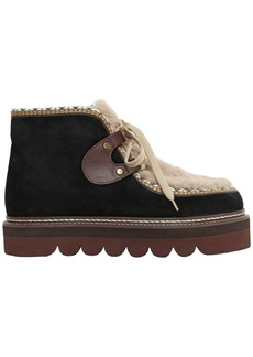 See by Chloé 40mm Suede & Shearling Boots