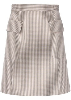 See by Chloé A-line houndstooth print skirt
