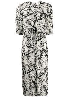 See by Chloé abstract-print midi dress