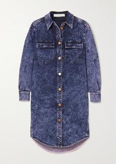 See by Chloé Acid-wash Denim Mini Dress
