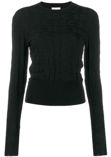 See by Chloé all over logo jumper