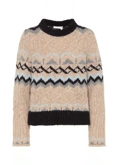 See by Chloé Alpaca and wool blend sweater