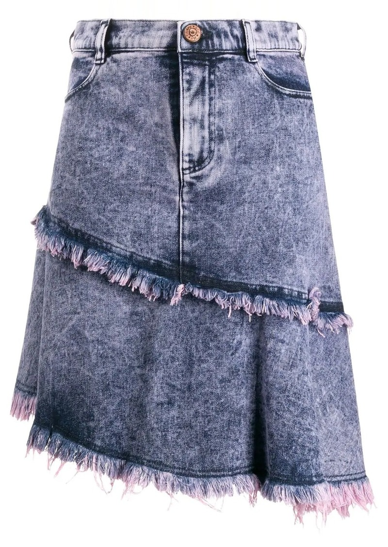 See by Chloé asymmetric denim skirt