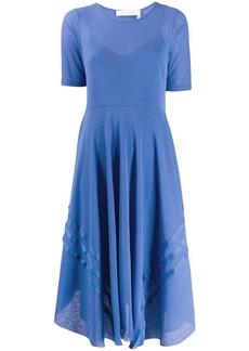 See by Chloé asymmetric-hem layered dress