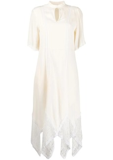 See by Chloé asymmetric lace dress