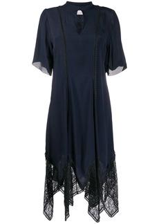 See by Chloé asymmetric lace trim dress