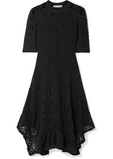 See by Chloé Asymmetric Laser-cut Jersey Dress