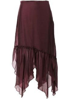 See by Chloé asymmetric midi skirt