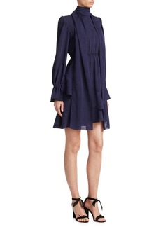 See by Chloé Asymmetrical Ruffle Dress