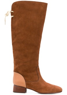 See by Chloé back bow fastened boots