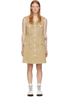 See by Chloé Beige Denim Fitted Dress