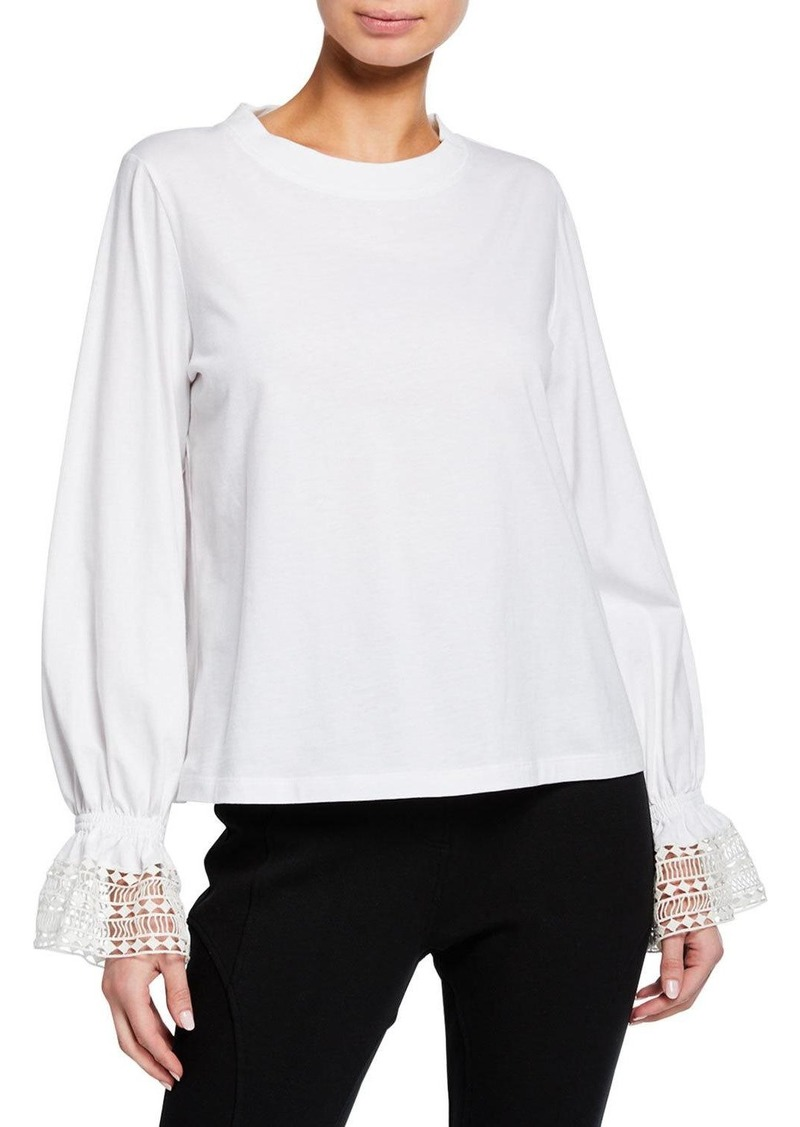 See by Chloé Bell-Sleeve Crewneck Top