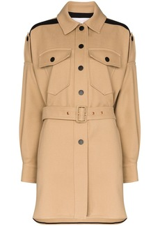 See by Chloé belted single breasted coat