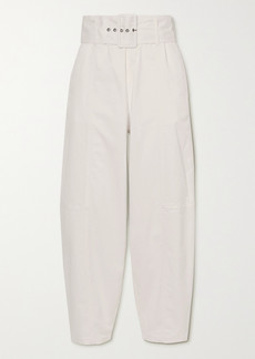 See by Chloé Belted Stretch-cotton Twill Tapered Pants