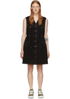 See by Chloé Black Denim Fitted Dress