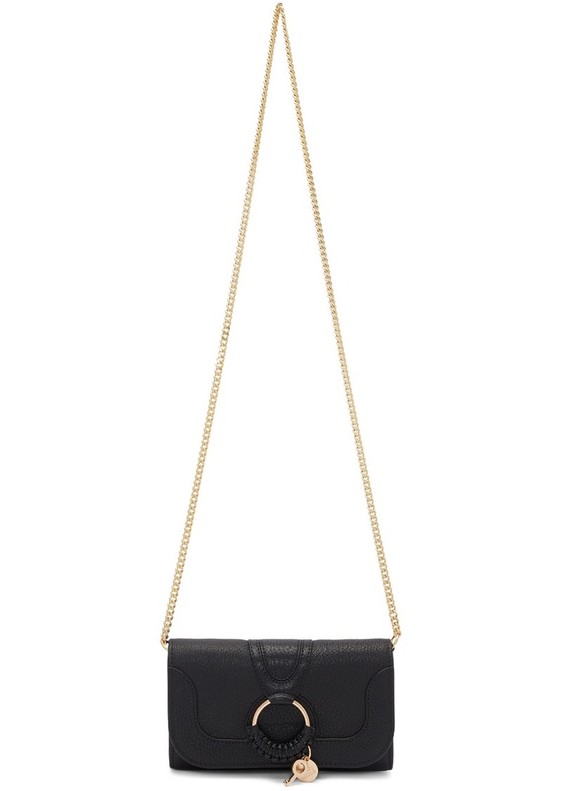 See by Chloé Black Hana Chain Wallet Bag