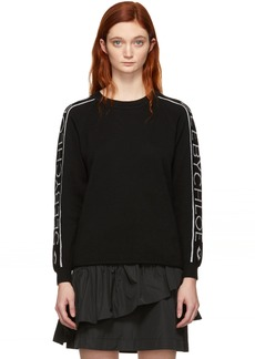 See by Chloé Black Knit Logo Sweater