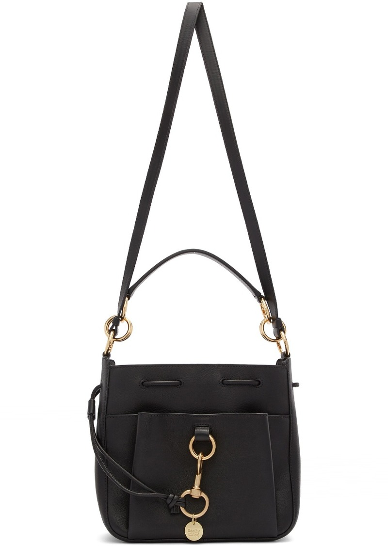 See by Chloé Black Large Tony Bucket Bag
