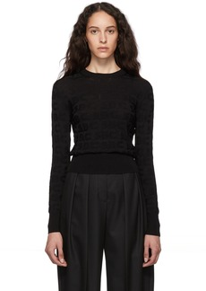 See by Chloé Black SBC Crewneck Sweater