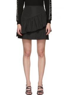 See by Chloé Black Taffeta Ruffle Miniskirt