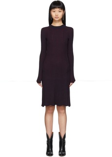 See by Chloé Blue & Red Fitted Long Sleeve Dress