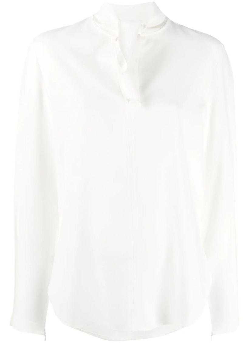 See by Chloé bow v-neck blouse