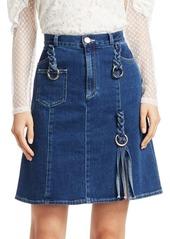 See by Chloé Braided Denim Skirt