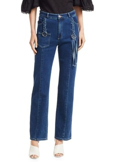 See by Chloé Braided Straight Jeans