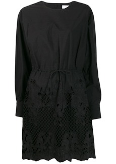 See by Chloé Broderie laser-cut dress