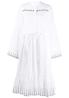 See by Chloé broderie-trimmed poplin dress