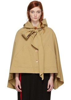 See by Chloé Brown Desert Bow Cape