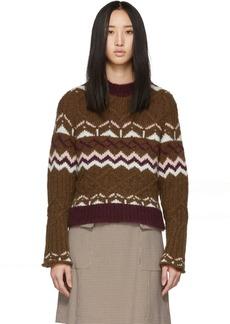 See by Chloé Brown Fair Isle Sweater