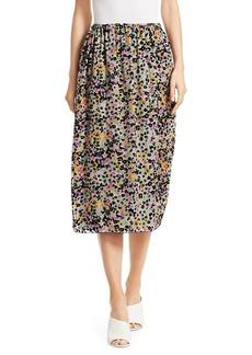 See by Chloé Burnout Velvet Midi Skirt