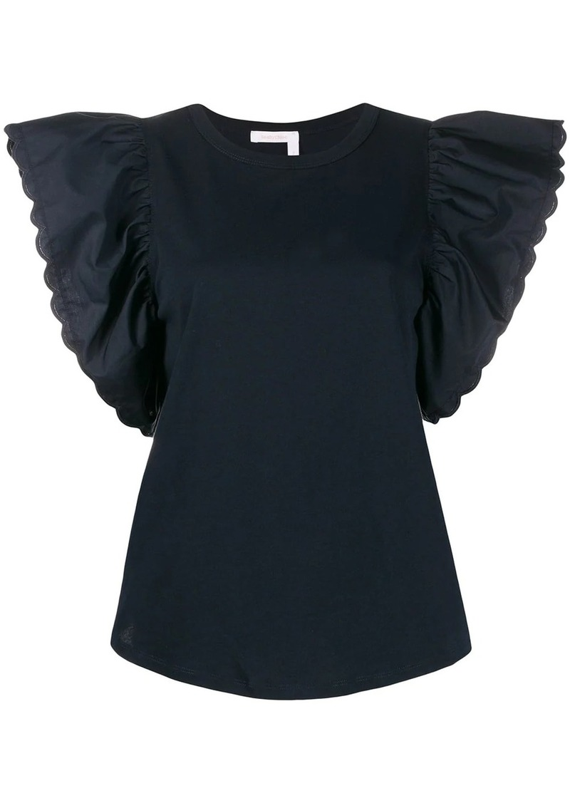 See by Chloé butterfly sleeve blouse