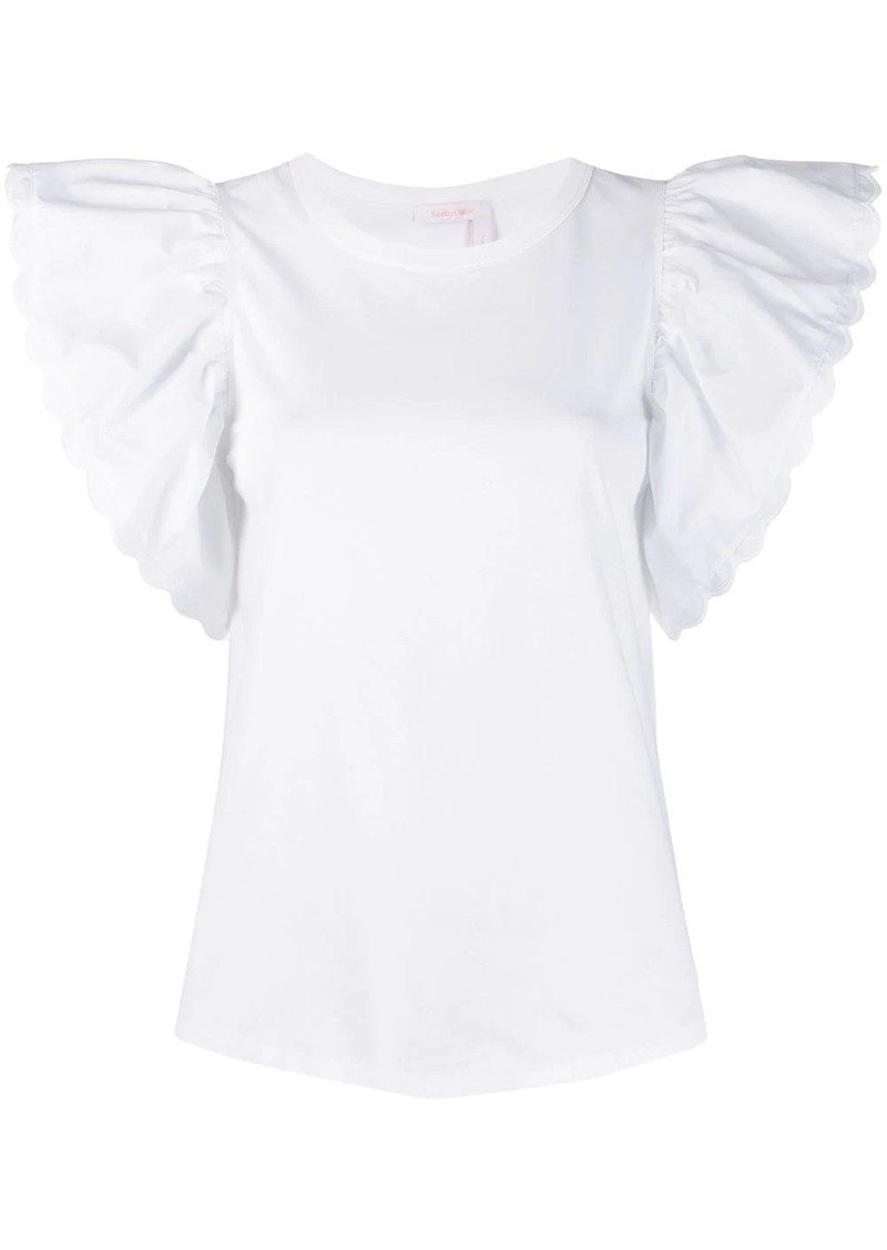See by Chloé butterfly sleeve top