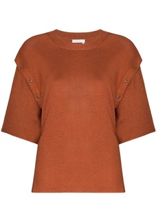 See by Chloé button detail knitted top