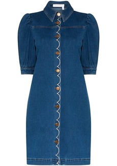 See by Chloé button-up denim dress