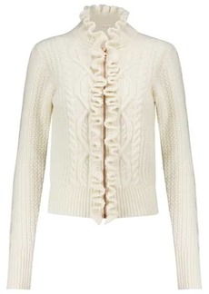 See by Chloé Cable-knit wool-blend cardigan