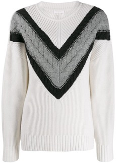 See by Chloé cable strip sweater