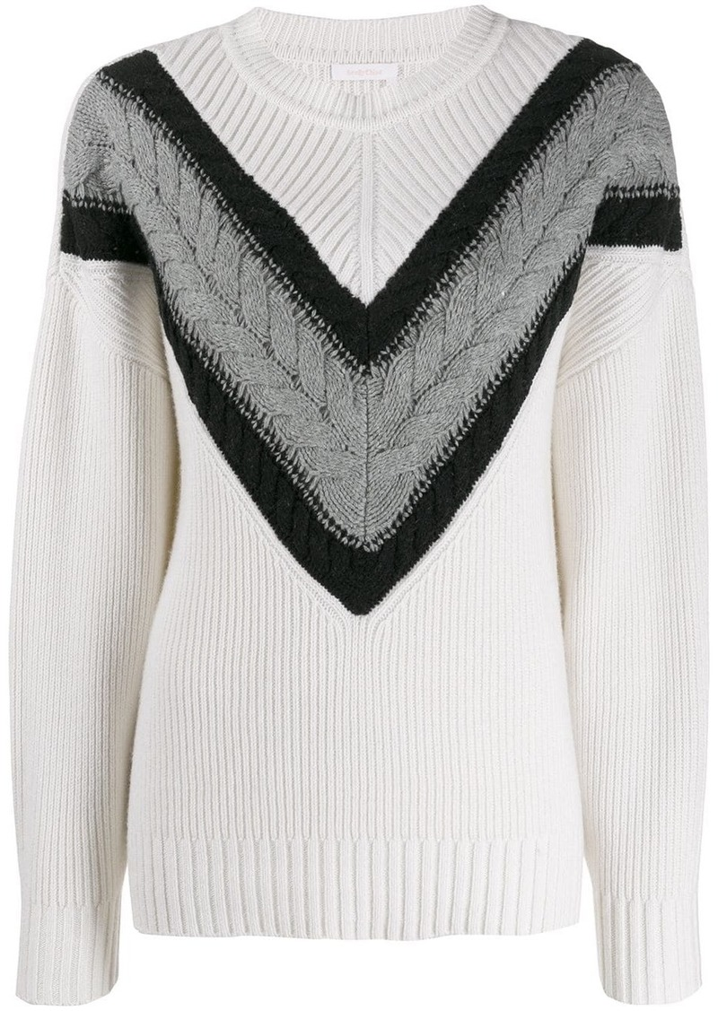 See by Chloé cable strip jumper