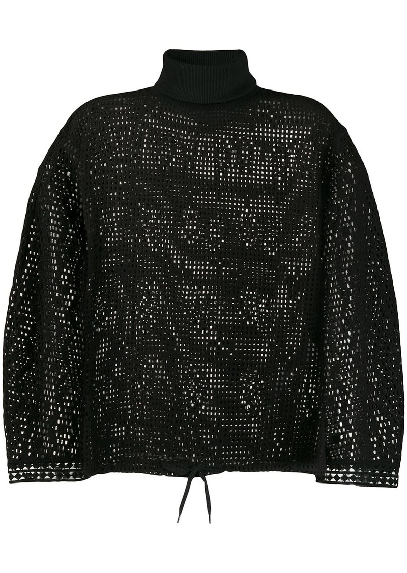 See by Chloé cage mesh knit jumper