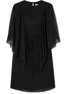 See by Chloé Cape-effect Ruffled Georgette Mini Dress