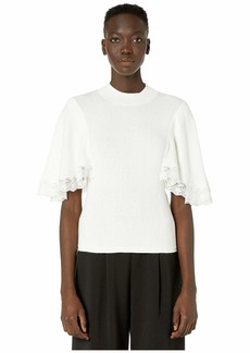 See by Chloé Cape Sleeve Sweater with Lace Detail