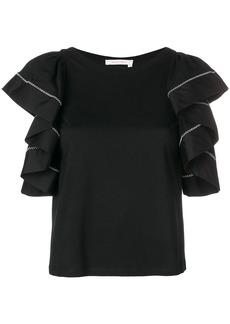 See by Chloé cascading ruffle sleeve blouse