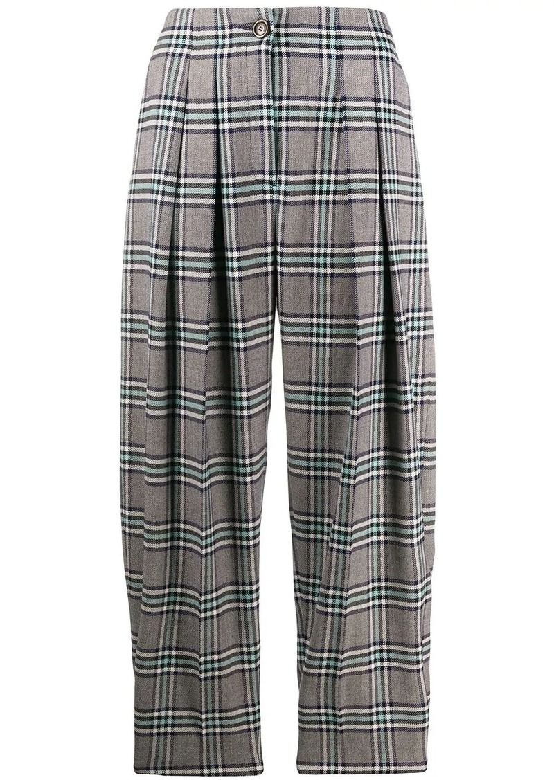 See by Chloé check print balloon trousers