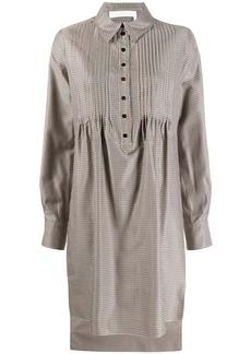 See by Chloé check smock shirt dress