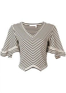 See by Chloé chevron stripe bell sleeve sweater