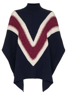 See by Chloé chevron stripe knitted poncho