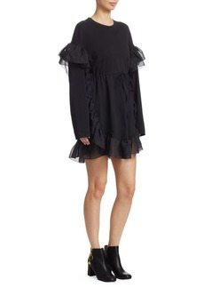See by Chloé Chiffon Ruffle T-Shirt Dress